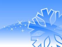 Flocon de neige bleu Images libres de droits