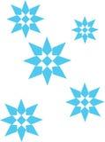 Flocon de neige bleu illustration libre de droits