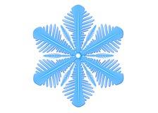 Flocon de neige bleu d'isolement sur un fond Illustration de snowfl photos libres de droits