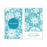 Flocon de neige décoratif de Noël de gel de vecteur Photo stock