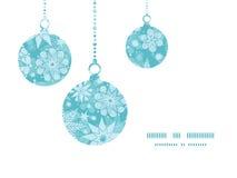 Flocon de neige décoratif de Noël de gel de vecteur Image libre de droits