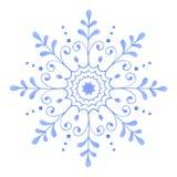 Flocon de neige décoratif peint à la main d'aquarelle illustration libre de droits