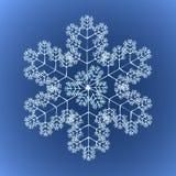 Flocon de neige détaillé génial Illustration Stock