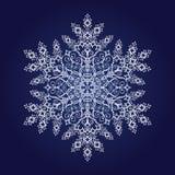 Flocon de neige détaillé simple illustration de vecteur