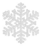 Flocon de neige d'isolement sur un fond blanc Photo libre de droits