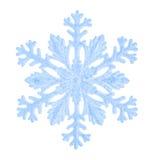 Flocon de neige d'isolement sur un fond blanc Photographie stock libre de droits