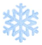 Flocon de neige d'isolement sur un fond blanc Photographie stock