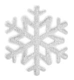 Flocon de neige d'isolement sur un fond blanc Images stock