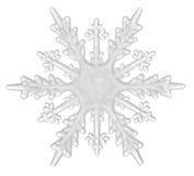 Flocon de neige d'isolement sur un fond blanc Image libre de droits