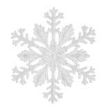 Flocon de neige d'isolement sur un fond blanc Image stock