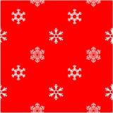 Flocon de neige de blanc d'hiver de modèle Photographie stock libre de droits