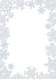 flocon de neige de cadre Photos stock