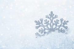 Flocon de neige de fond de Noël Images libres de droits