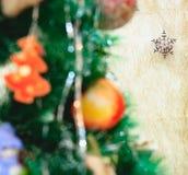 Flocon de neige de jouet de Noël Image libre de droits