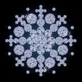 Flocon de neige de Noël de diamant, vecteur Photographie stock libre de droits