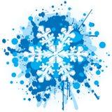 flocon de neige de Noël de fond Photos libres de droits
