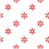 Flocon de neige de rouge d'hiver de modèle Photos stock