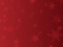 flocon de neige de rouge de fond Photo stock