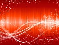 flocon de neige de rouge de Noël de fond illustration libre de droits