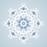 Flocon de neige de vecteur Photographie stock