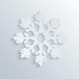 Flocon de neige des vacances 3D Photo libre de droits