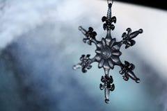 Flocon de neige en verre Photos stock