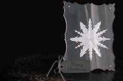 Flocon de neige encadré - Joyeux Noël Photographie stock