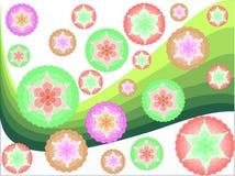 Flocon de neige-et-courbes Illustration de Vecteur