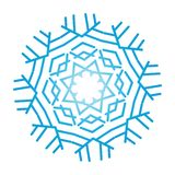 Flocon de neige fleuri illustration stock