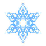 Flocon de neige fleuri bleu illustration stock