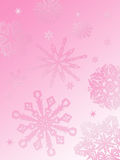 Flocon de neige fond-rose Photographie stock