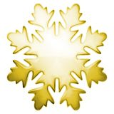 Flocon de neige jaune de l'hiver Photographie stock libre de droits