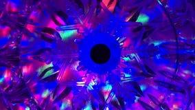 Flocon de neige léger de décoration de Noël banque de vidéos