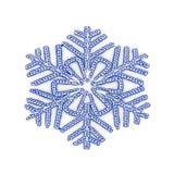 Flocon de neige de Noël de LED d'isolement sur le fond blanc Photos stock
