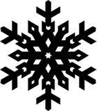 Flocon de neige noir élégant de forme simple pour votre conception Geo de vecteur Images libres de droits