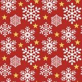 Flocon de neige Pattern_Red Illustration Libre de Droits