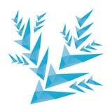 Flocon de neige polygonal avec les polygones triangulaires Photo libre de droits