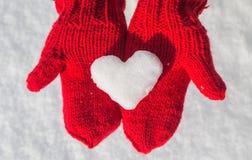 Flocon de neige sous forme de coeur Image libre de droits