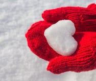 Flocon de neige sous forme de coeur Photo stock