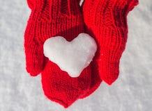 Flocon de neige sous forme de coeur Photographie stock