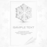 Flocon de neige sur le blanc Photographie stock libre de droits
