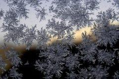 Flocon de neige sur le verre Photo stock