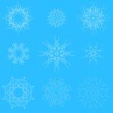 Flocons blancs de neige Images libres de droits