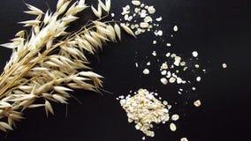 Flocons d'avoine photo stock