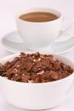 Flocons d'avoine de chocolat Images stock