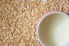 Flocons de lait et d'avoine photo stock