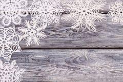 Flocons de neige à jour du livre blanc Photo libre de droits