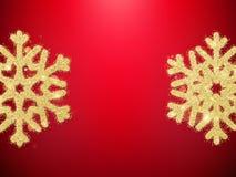 Flocons de neige à l'arrière-plan rouge ENV 10 illustration stock