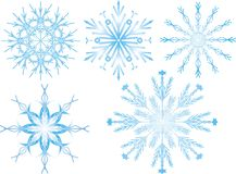 Flocons de neige Photos libres de droits