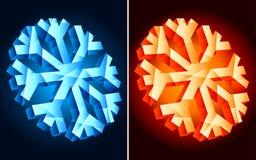 Flocons de neige. Image libre de droits
